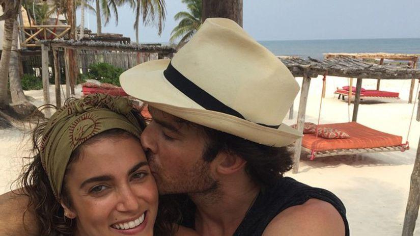 Herečka Nikki Reed s manželom Ianom...