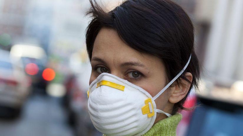 vzduchm dýchanie, rúško, znečistenie, špinavý...