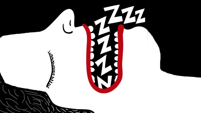 zuby - sen - spánok - chrápanie