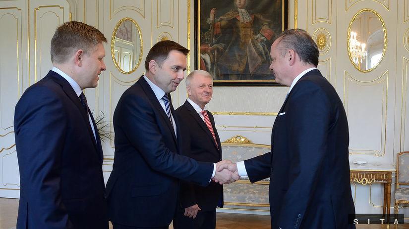 Peter Kažimír, Robert Fico, Andrej Kiska