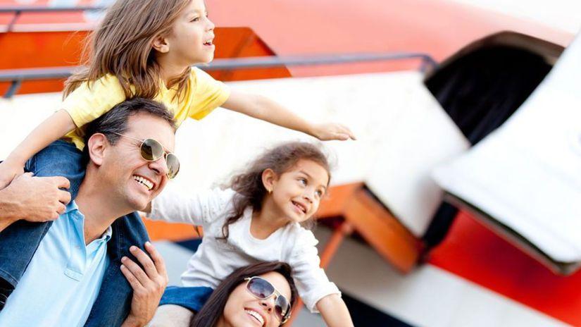 lietadlo, rodina, cestovanie, cestovanie s...