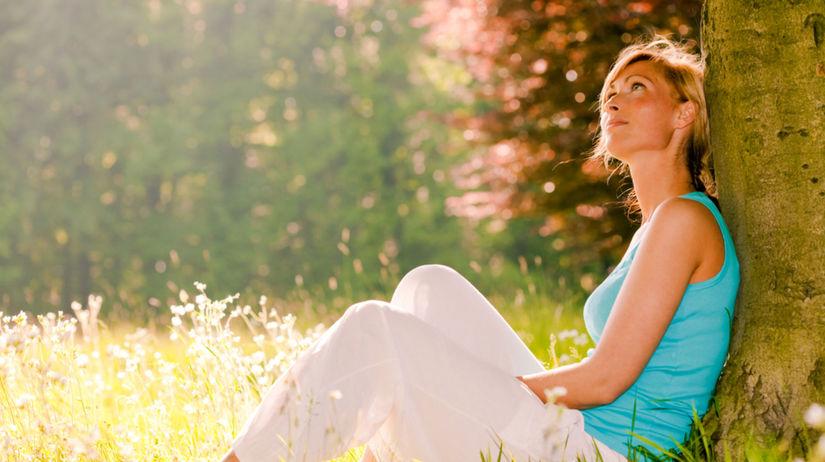 žena, relax, príroda