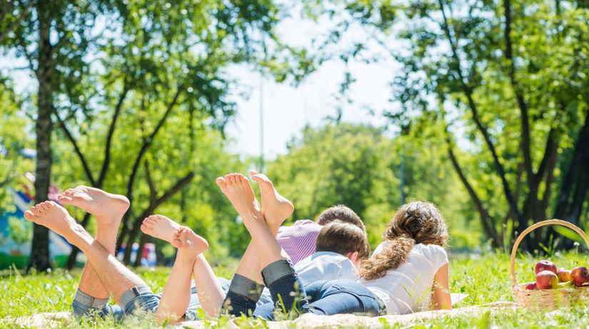 piknik, príroda, rodina