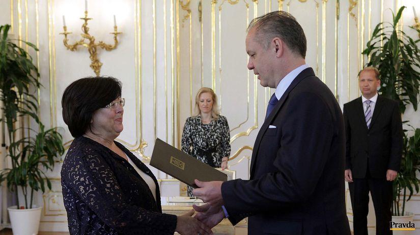 Andrej Kiska, Jana Baricová, menovanie