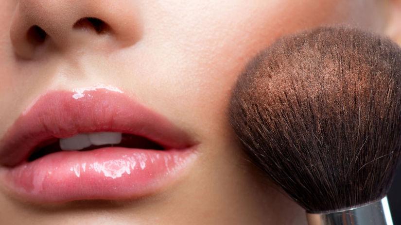 make-up, líčenie, štetec, líčka