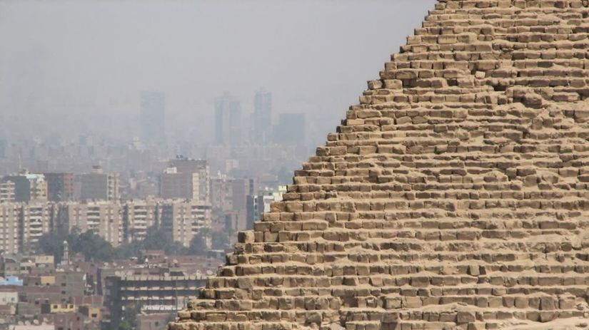 Giza, pyramídy, Egypt, Káhira, Gíza