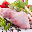 králik, mladé mäso, zelenina