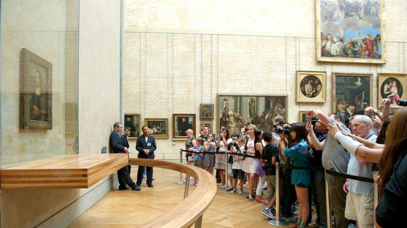 Mona Lisa, Louvre, Paríž, múzeum, turisti