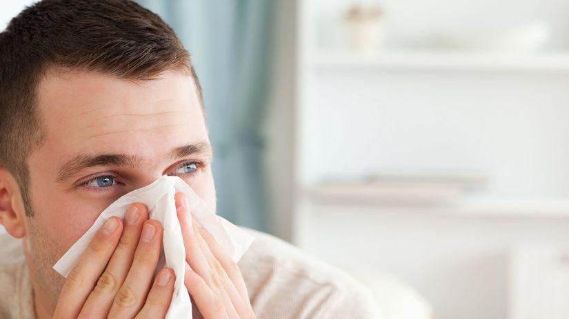 alergia, prechladnutie, viróza, vreckovka, sopeľ