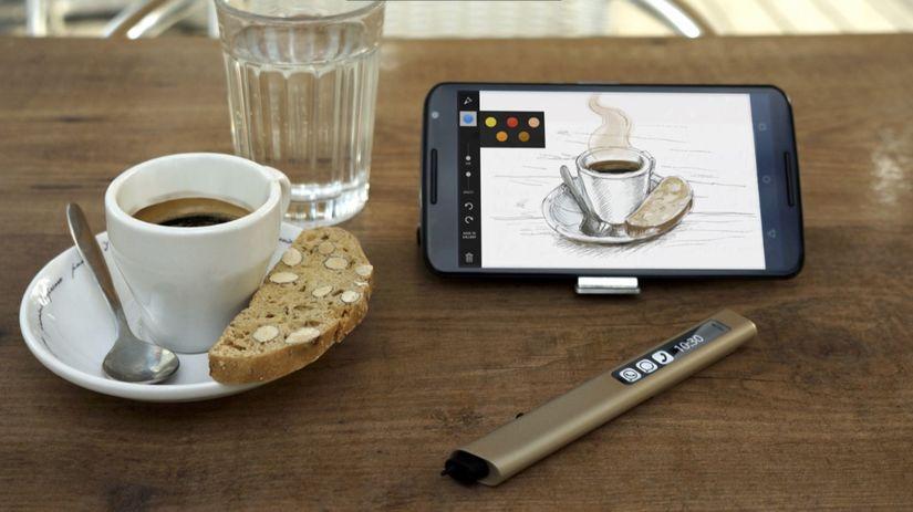 phree, dotykové pero, stylus, virtuálne pero,...