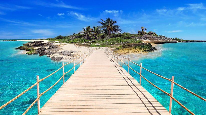 ostrov, more, dovolenka, voda, palmy, exotika,...