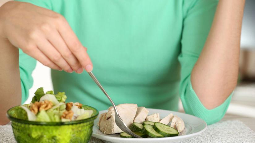 strava, tanier, žena, výživa