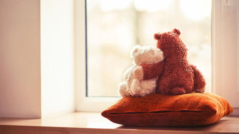 plyšový medveď, vankúš, láska
