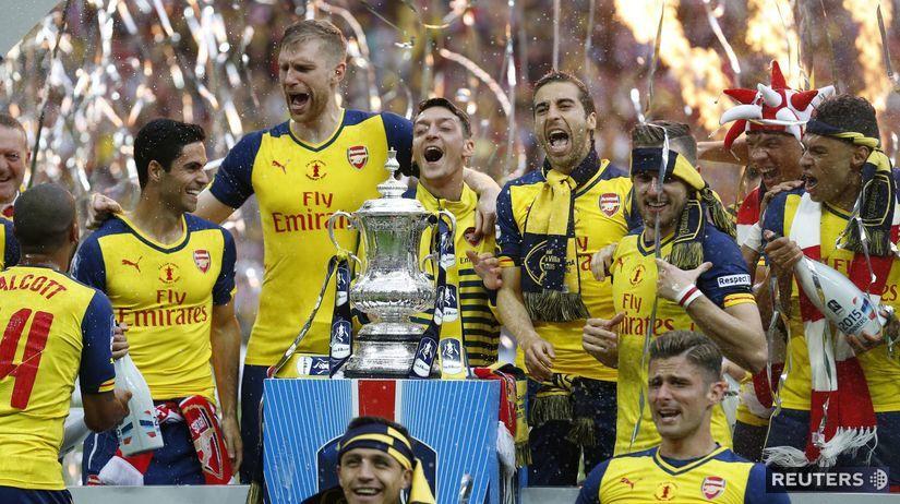 Arsenal Londýn, FA Cup, radosť, futbal