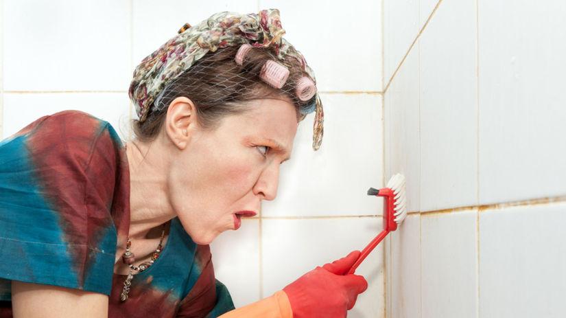kúpeľňa, žena, prášok do pečiva