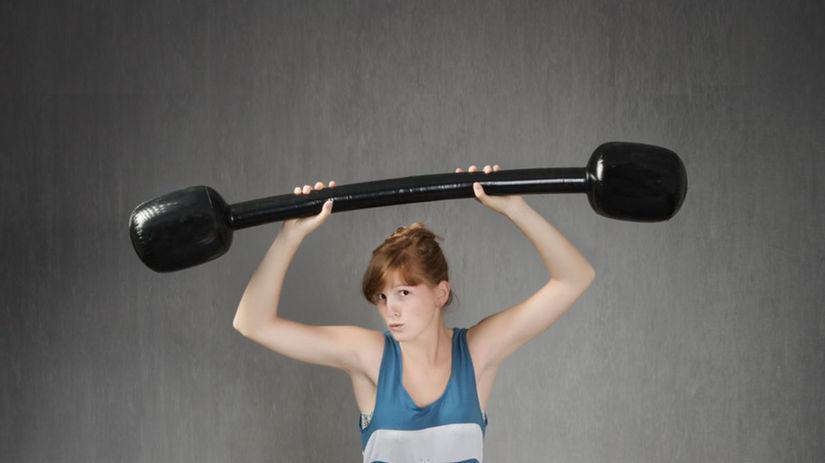 cvičenie - žena - efekt - sila