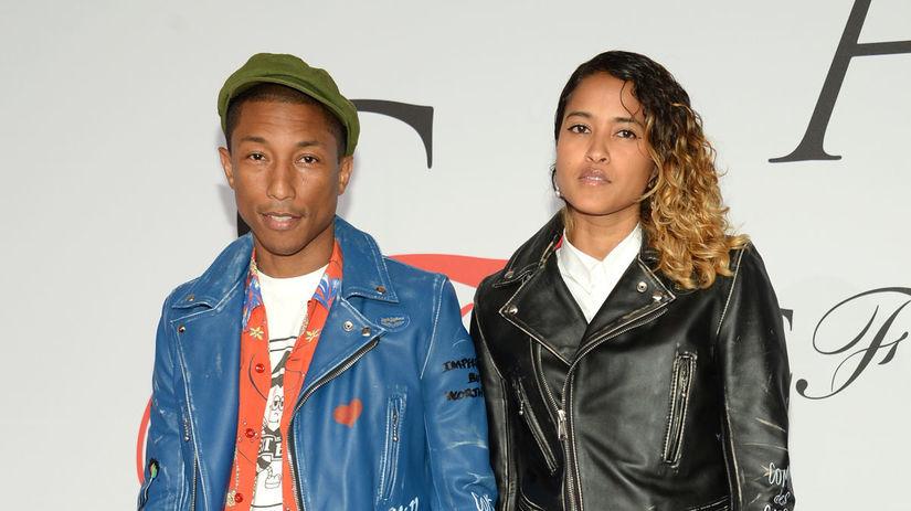 Pharrell Williams a jeho manželka Helen Lasichanh.
