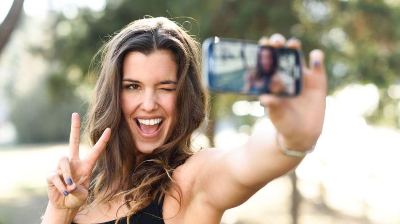 fotografia, selfie, žena