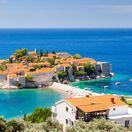 Čierna Hora, Montenegro, more, Jadran, dovolenka pri mori, letná dovolenka, Stredozemné more, Sveti Stefan, ostrov,