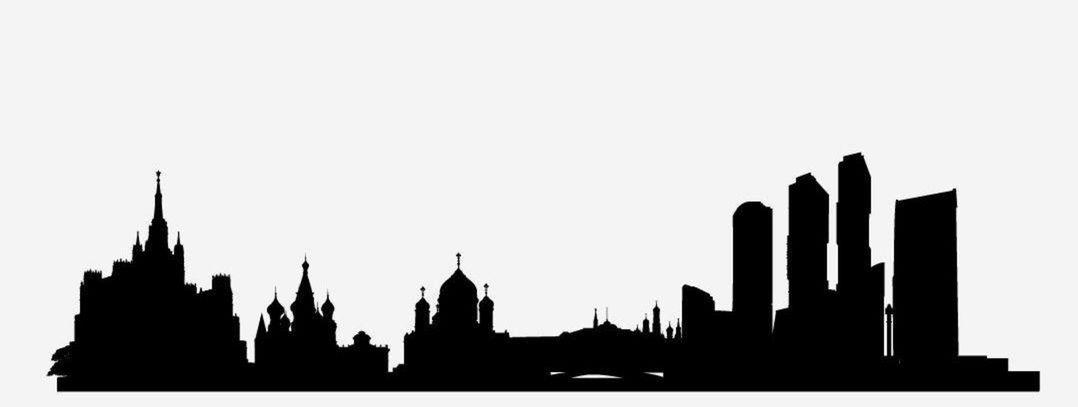 10 silueta, mesto, obrys, skyline, tvary, domy, Moskva, Rusko