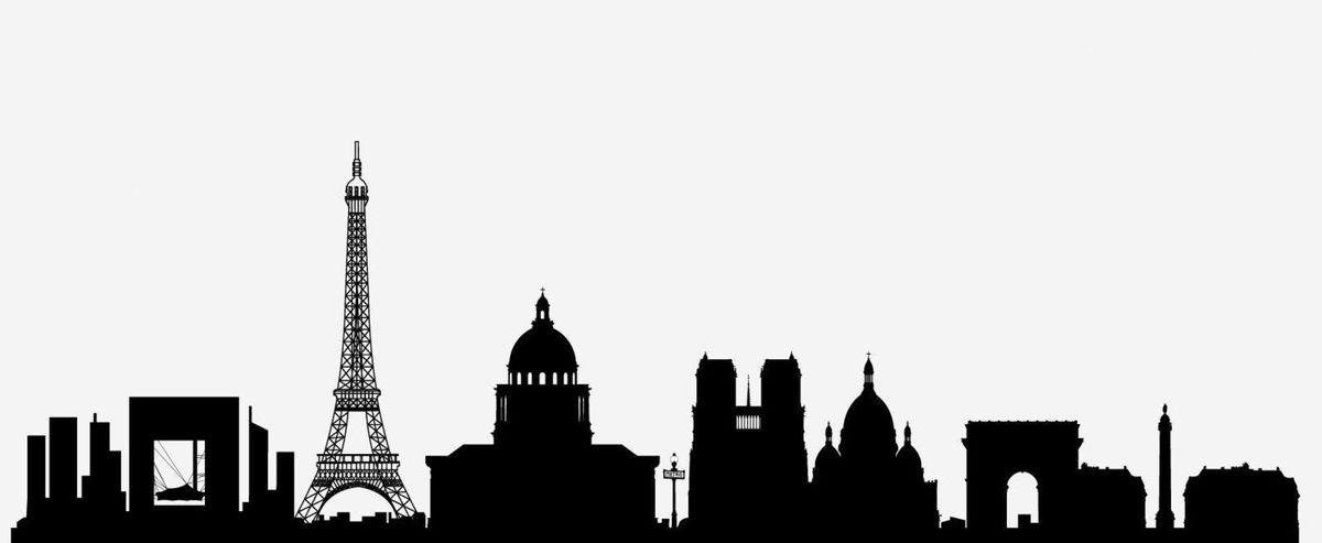 2 silueta, mesto, skyline, tvary, Paríž, Francúzsko