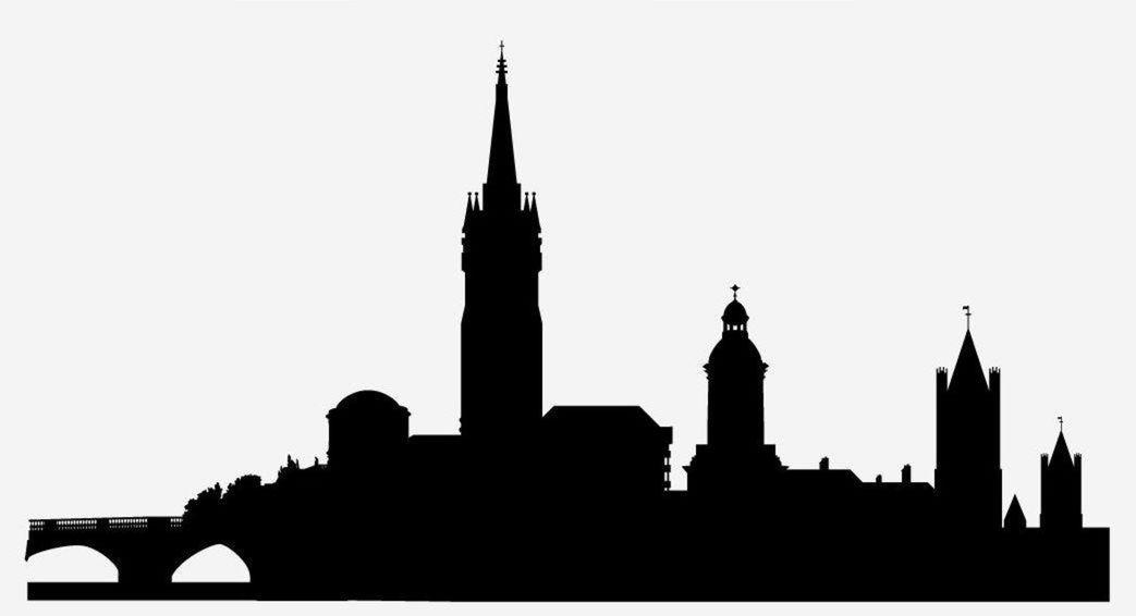 26 Baile Átha Cliath, silueta, mesto, skyline, obrys, domy, budovy, Dublin, Írsko