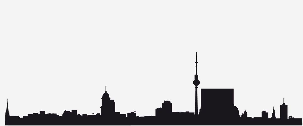 3 silueta, mesto, skyline, tvary, Berlín, Nemecko