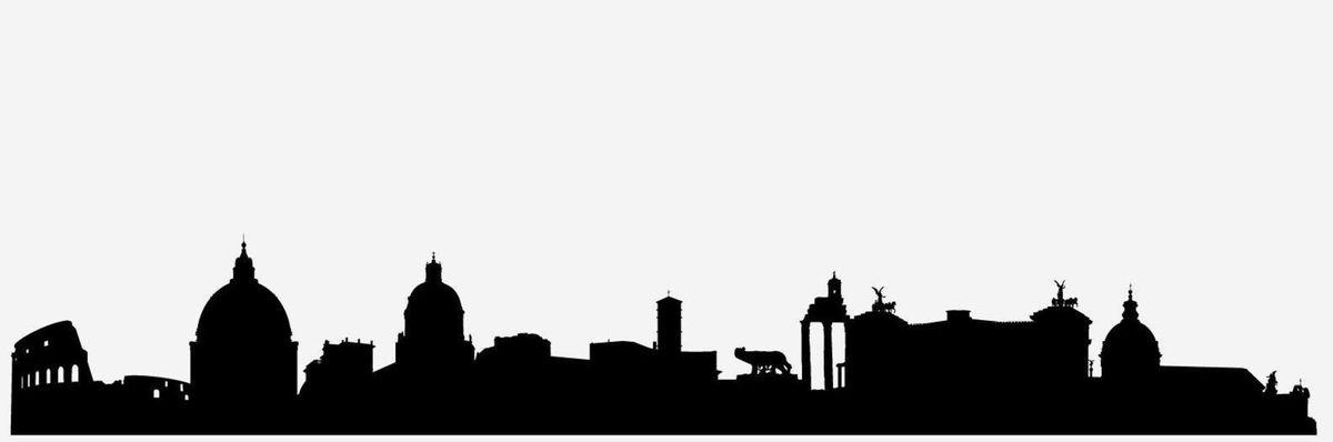 4 silueta, mesto, skyline, tvary, Rím, večné mesto, Taliansko