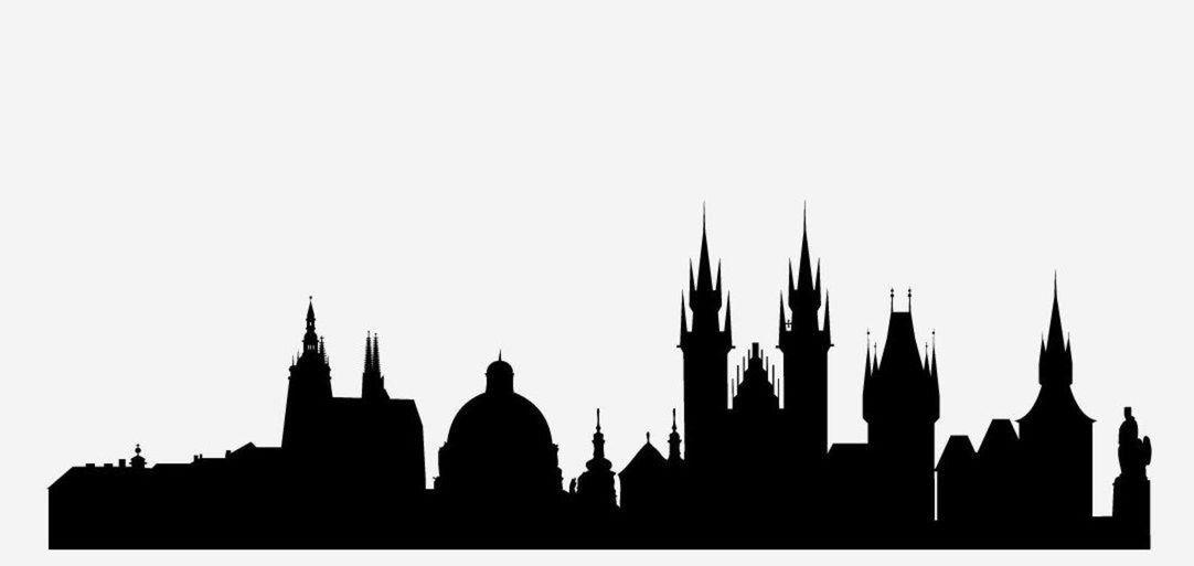 7 silueta, mesto, skyline, tvary, Praha, Česko, Česká republika