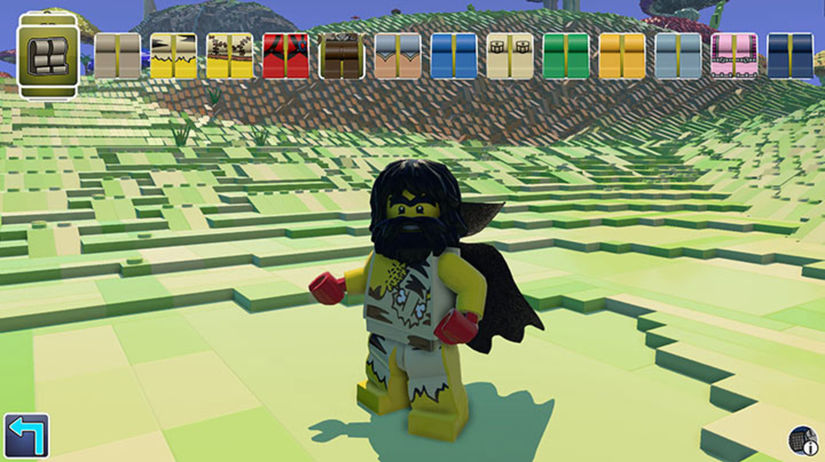 Lego Worlds, hra, Minecraft