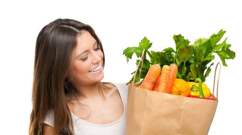 ovocie, zelenina, zdravá strava, nákup