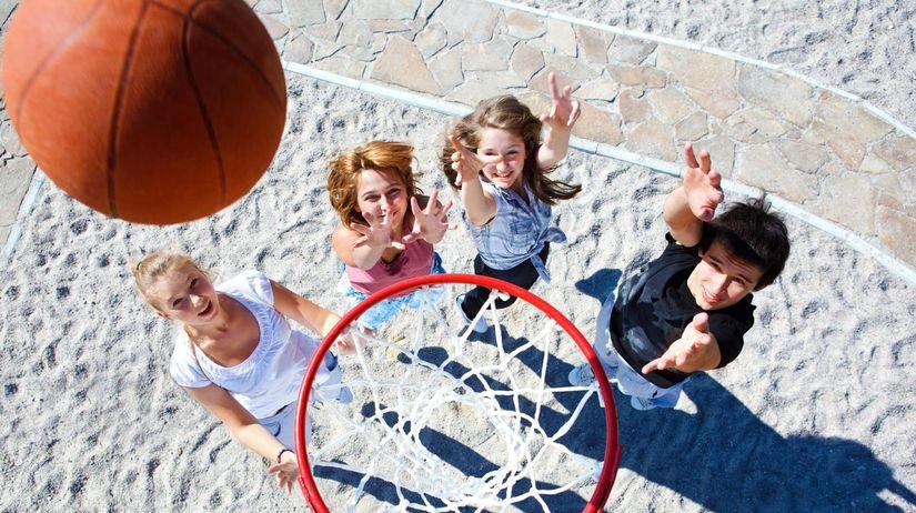 školáci basketbal