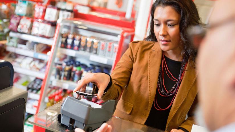 banka, platba, mobil, obchod