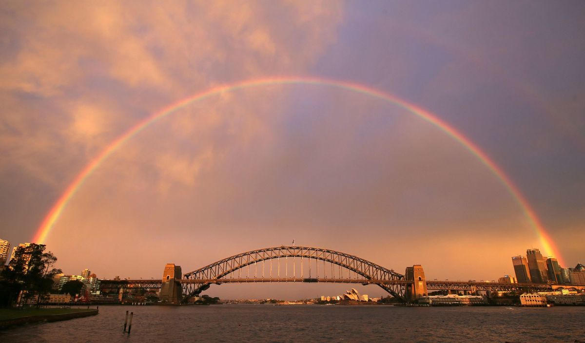 Harbour Bridge, Sydney, dúha