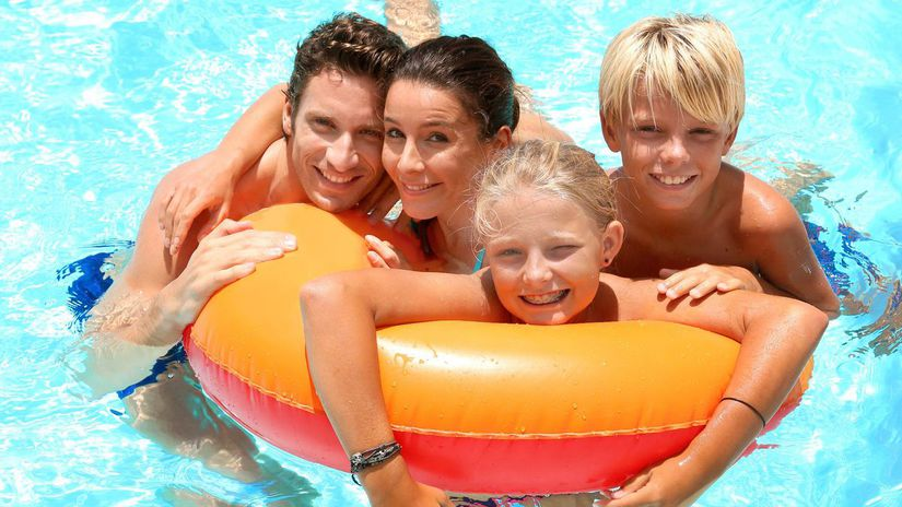 voda, leto, dovolenka, kúpanie, koleso, deti,...