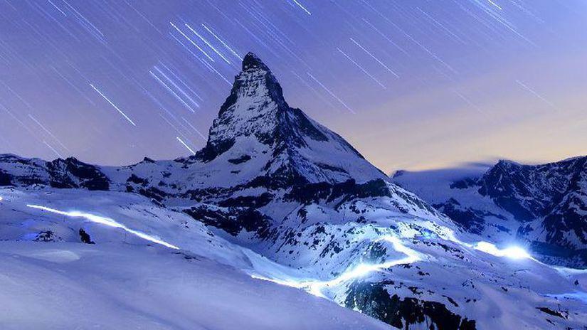 Matterhorn, vrch, hory, Švajčiarsko, Alpy,...