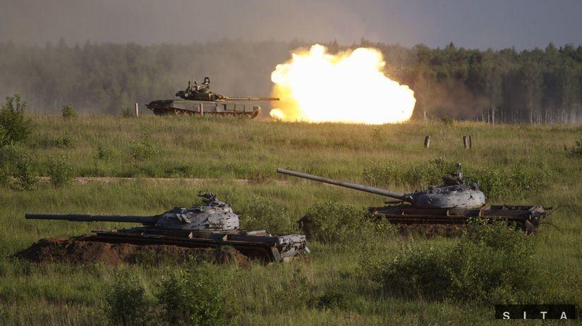 rusko, tanky, vojna, výbách