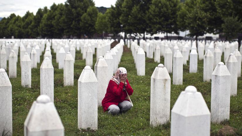 Bosna, Srebrenica, modlitba, Potočari, cintorín