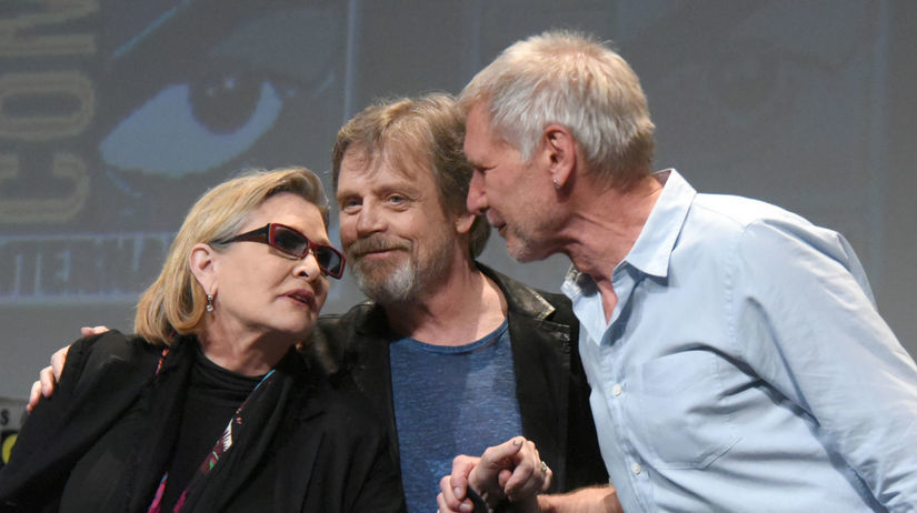Carrie Fisher, Mark Hamill a Harrison Ford