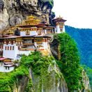 Bhután, tigrie hniezdo, kláštor, hory, ázia