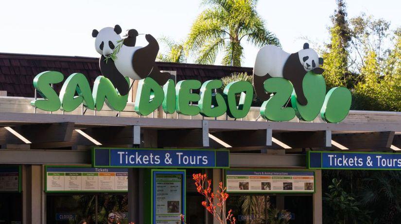 Zoo, zoologická záhrada, San Diego, pandy