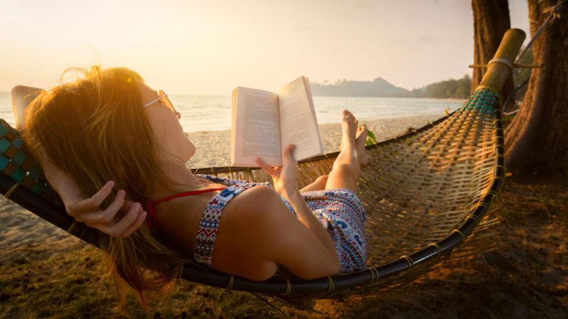 Dovolenka, kniha, čítanie, leto, cestovanie,...