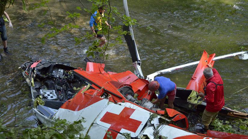 vrtuľník, nehoda, slovenský raj, zrútenie