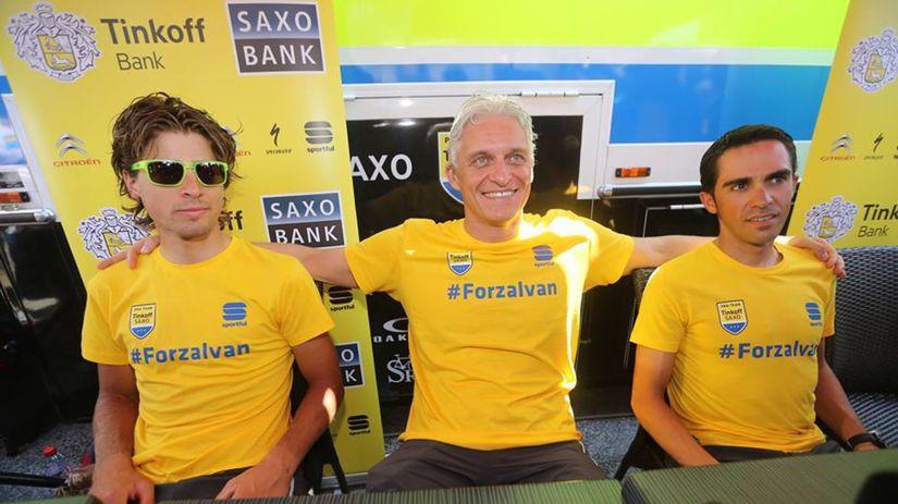 Peter Sagan, Oleg Tiňkov, Alberto Contador