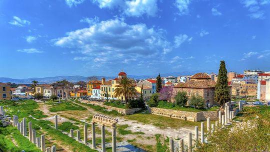 Grécko, Atény, Agora, ruiny, antika, pamiatky,