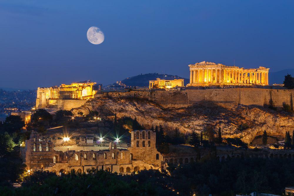 Grécko, Atény, Partenón, Akropola, pamiatky, antika