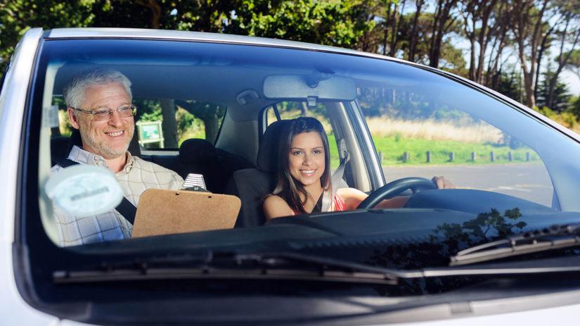 autoškola, auto, šofér, inštruktor