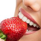 jahody, úsmev, zdravé zuby