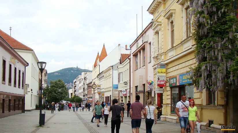 Nitra, pešia zóna, Zobor