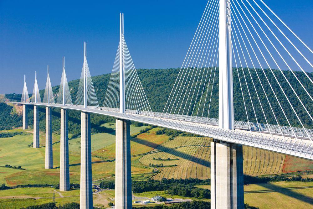 Viaduc de Millau, most, cesta, francúzsko